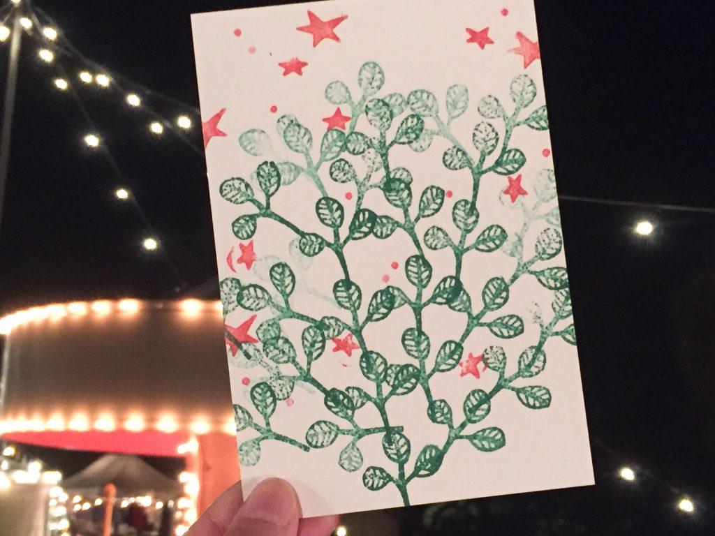 「スタンプでポストカードを作ろうWS」を開催しました!