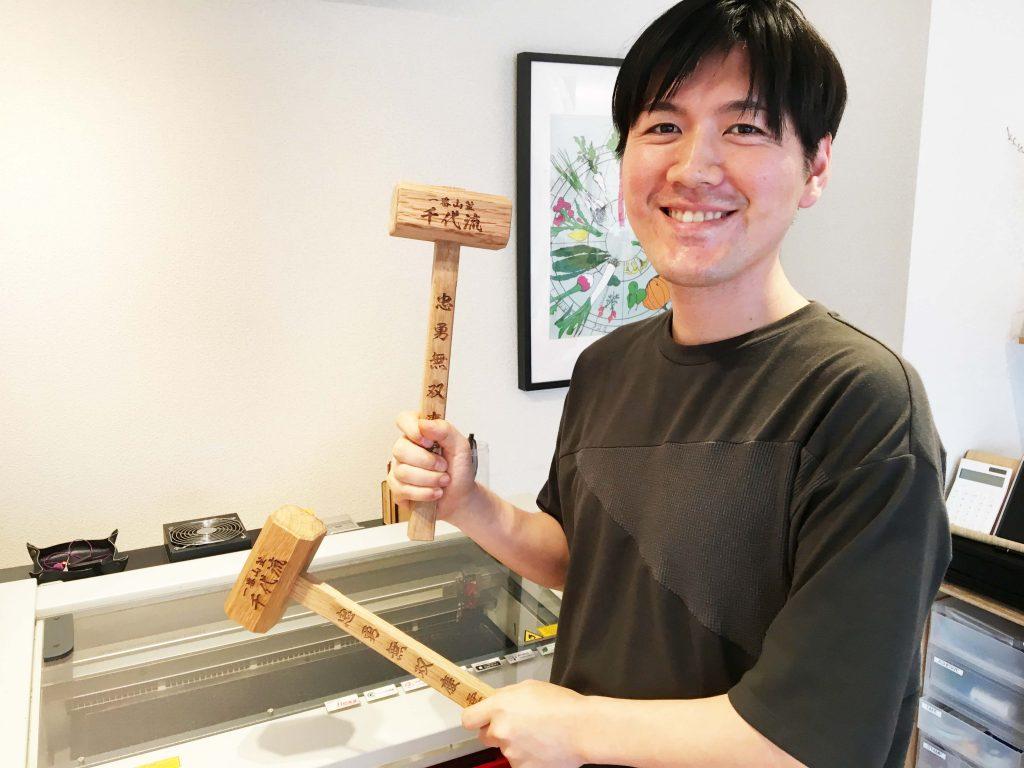 博多祇園山笠「棒締め」用の木槌を加工させていただきました!